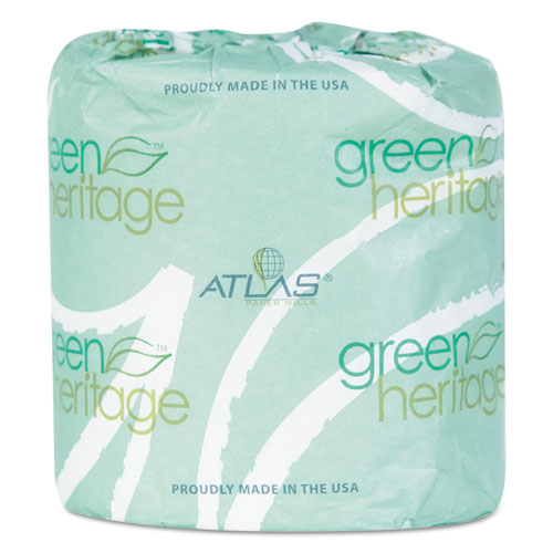 Green Heritage Professional Toilet Tissue, Septic Safe, 2-Ply, White, 4.1 x 3.1, 400/Roll, 96 Rolls/Carton
