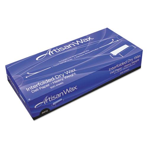 Interfolded Dry Wax Deli Paper, 10 x 10 3/4, White, 500/Box, 12 Boxes/Carton