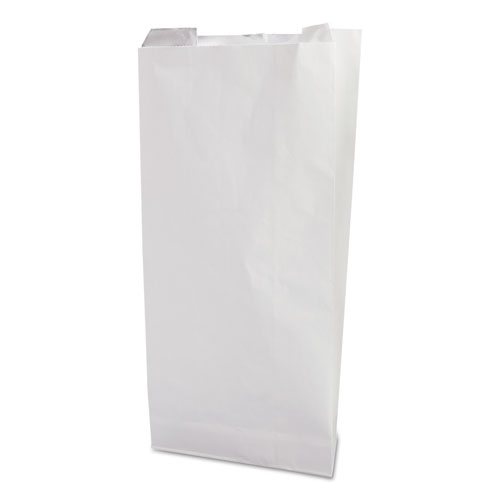 Grease-Resistant Single-Serve Bags, 6 x 6.5, White, 2,000/Carton