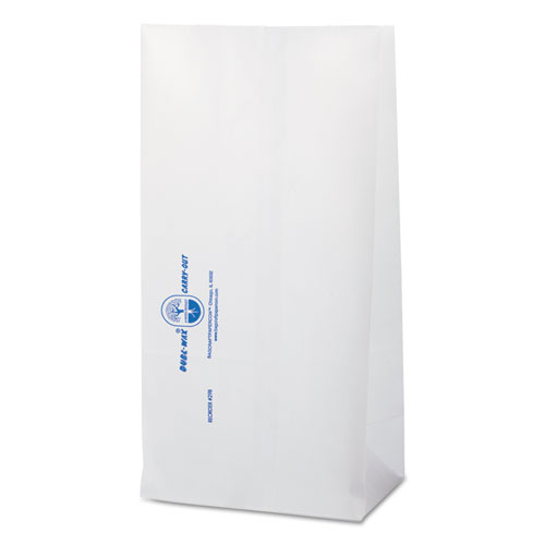 Dubl Wax SOS Bakery Bags, 6.13 x 12.38, White, 1,000/Carton