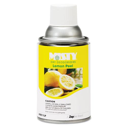 Metered Dry Deodorizer Refills, Lemon Peel, 7 oz Aerosol, 12/Carton