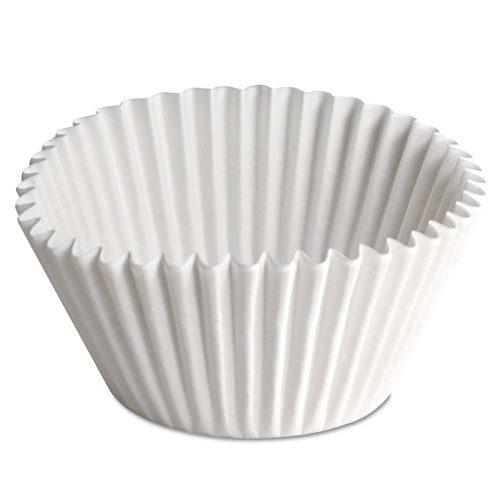 Fluted Bake Cups, 2 1/4 dia x 1 7/8h, White, 500/Pack, 20 Pack/Carton