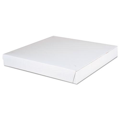 Paperboard Pizza Boxes,14 x 14 x 1 7/8, White, 100/Carton