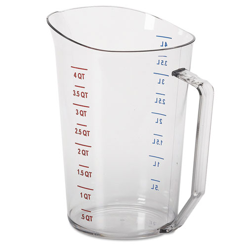 Camwear Measuring Cups, 4 Quart, Polycarbonate, Clear 400MCCW135