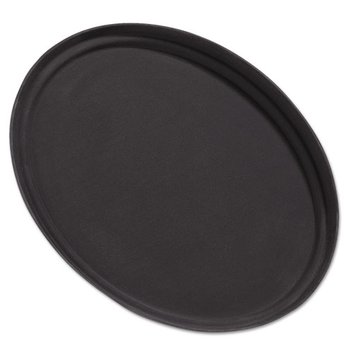 Griptite Oval Tray, 24w, Fiberglass, Black