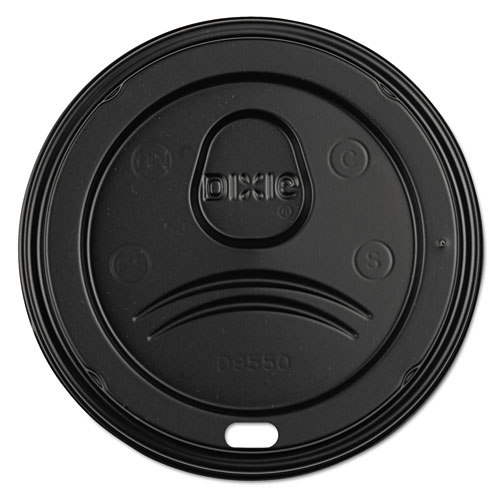 Sip-Through Dome Hot Drink Lids, Fits 21, 24oz Cups, Black, 100/Pack, 10/CT D9550B