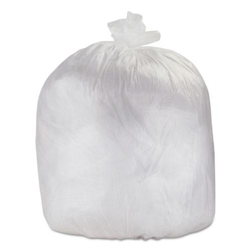 """FlexSol Individually Cut HD Waste Bags, 60"""" x 38"""", 60 Gal, Clear, 200/CT"""