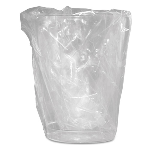 Wrapped Plastic Cups, 10oz, Translucent, 500/Carton W10