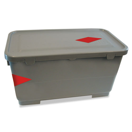 Microfiber Charging Bucket, 6 gal, Polypropylene, Gray, 11 x 21 x 11 1/2