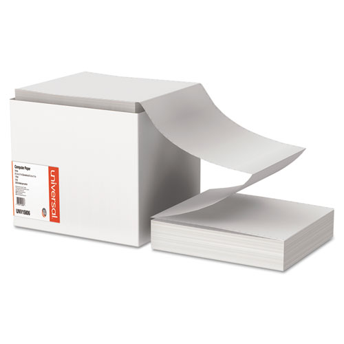 Printout Paper, 1-Part, 15lb, 9.5 x 11, White, 3, 300/Carton | by Plexsupply
