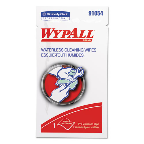 Waterless Hand Wipes, Polypropylene, 10 1/2 x 8, 75/Pack, 100/Carton
