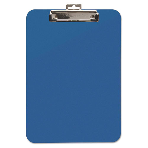 "Unbreakable Recycled Clipboard, 1/4"" Capacity, 8 1/2 x 11, Blue 