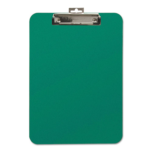 Unbreakable Recycled Clipboard, 1/4 Capacity, 9 x 12 1/2, Green