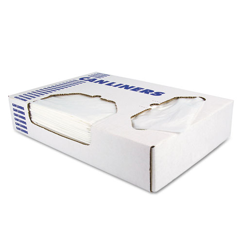 """Heritage Linear Low-Density Can Liners, 30 gal, 0.9 mil, 30"""" x 36"""", White, 200/Carton"""