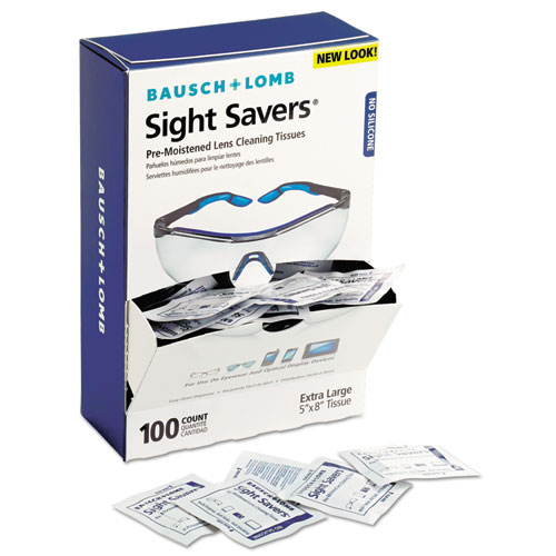 7930-01-680-9882, Sight Savers Premoistened Lens Cleaning Tissues, 8 x 5, 100/Box