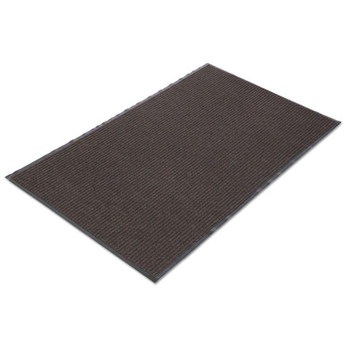 Crown NR0046BR Needle Rib Wiper Scraper Mat, 4 x 6-ft, 5/16-in Thick, Brown NR0046BR