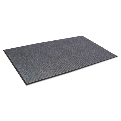 Crown NR0046GY Needle Rib Wiper Scraper Mat, 4 x 6-ft, 5/16-in Thick, Gray NR0046GY