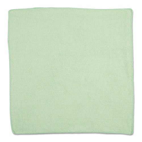 Microfiber Cleaning Cloths, 16 X 16, Green, 24/Pack