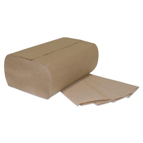 Multi-Fold Paper Towels, 1-Ply, Brown, 9 1/4 x 9 1/4, 250 Towels/Pack, 16 Packs/Carton