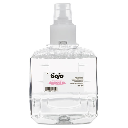GOJO® Clear & Mild Foam Handwash Refill, Fragrance-Free, 1200mL Refill, 2/Carton