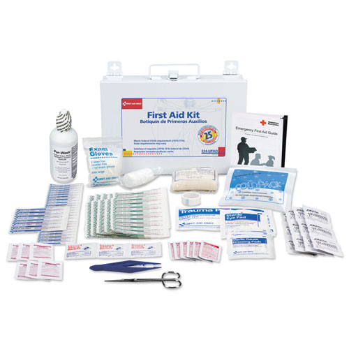 First Aid Kit for 25 People, 106-Pieces, OSHA Compliant, Metal Case