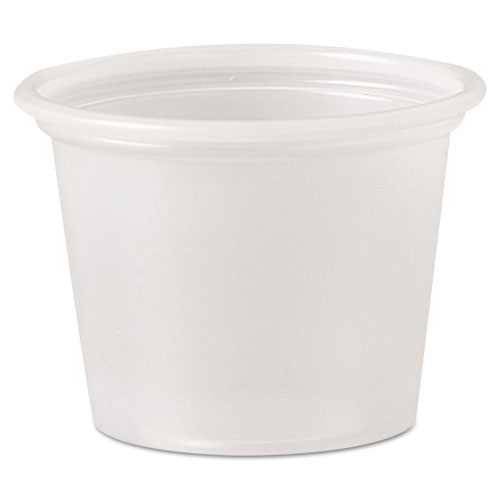 Polystyrene Portion Cups, 1 oz, Translucent, 2,500/Carton