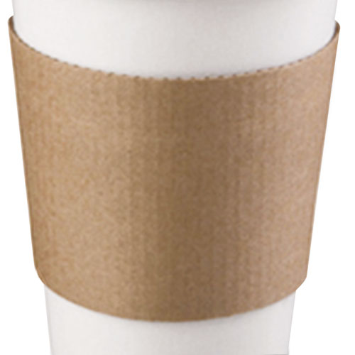 Coffee Clutch Hot Cup Sleeve, Brown, Fits 10, 12 16, 20 oz Cups, 500/Carton 63015