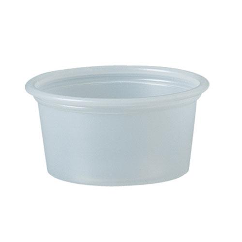 Polystyrene Portion Cups, 3/4 oz, Translucent, 2500/Carton