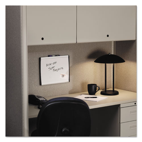 Magnetic Dry-Erase Board, Steel, 11 x 14, White Surface, Silver Aluminum Frame