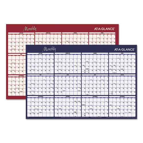 Purchase Reversible Horizontal Erasable Wall Planner And