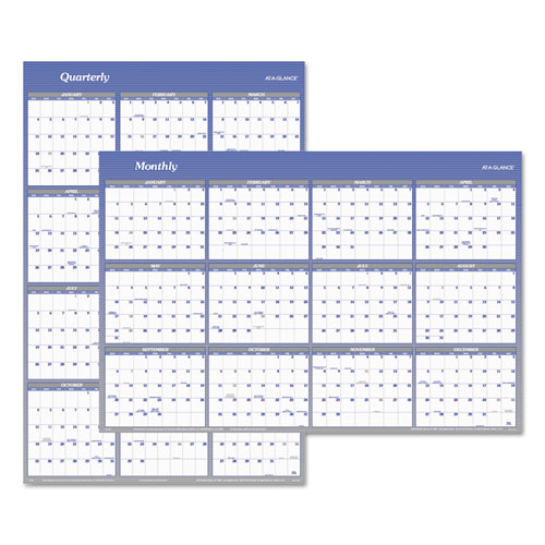 Vertical/Horizontal Erasable Wall Planner, 32 x 48, 2020 | by Plexsupply
