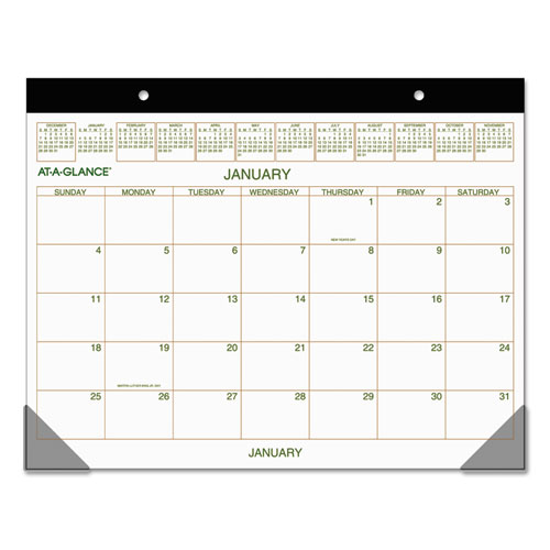 Two-Color Desk Pad, 22 x 17, 2020 | by Plexsupply