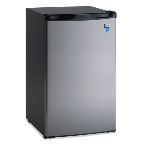 "4.4 CF Refrigerator, 19 1/2""W x 22""D x 33""H, Black/Stainless Steel 