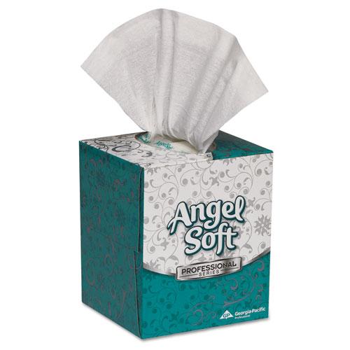 Premium Facial Tissue in Cube Box, 2-Ply, White, 96 Sheets/Box, 36 Boxes/Carton