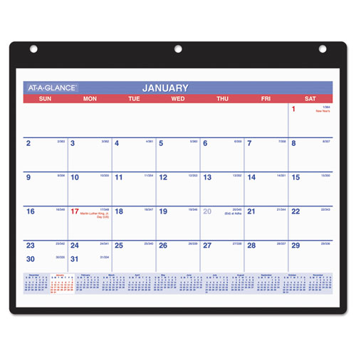 Monthly Desk/Wall Calendar, 11 x 8 1/4, White, 2020 | by Plexsupply