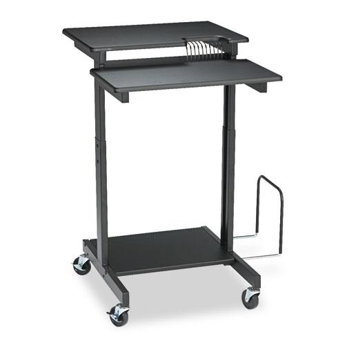 BALT® Web A/V Stand-Up Workstation, 34w x 31d x 44-1/2h, Black