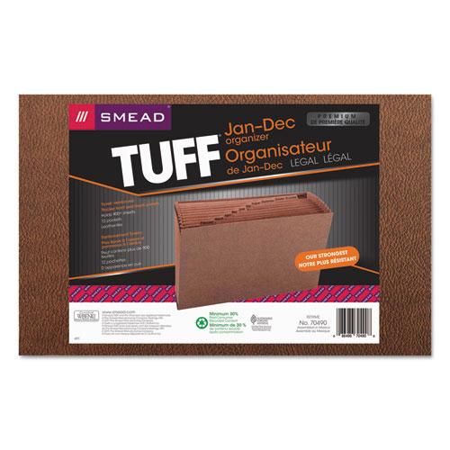 Smead® Jan-Dec Open Expanding File, 12 Pocket, Legal, Redrope Printed