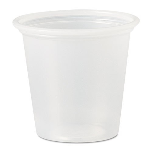 Polystyrene Portion Cups, 1.25 oz, Translucent, 2,500/Carton