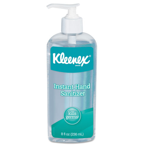 Kleenex® Instant Hand Sanitizer, 8 oz, Pump Bottle, Sweet Citrus, 12/Carton