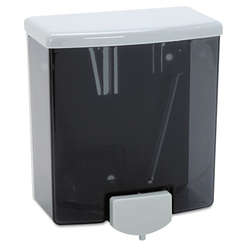 ClassicSeries Surface-Mounted Liquid Soap Dispenser, 40 oz, 5.81 x 3.31 x 6.88, Black/Gray