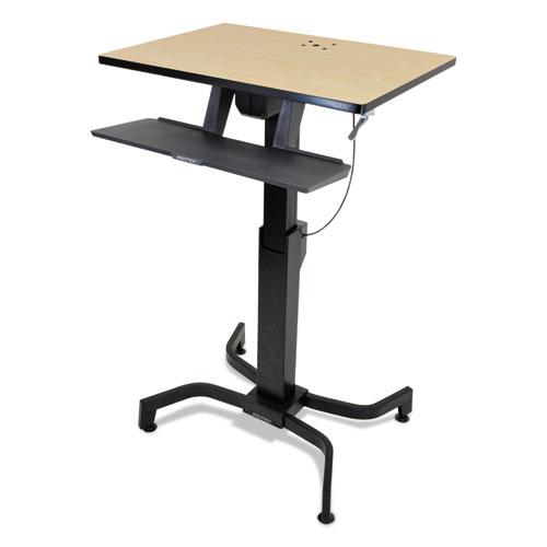 Ergotron® WorkFit-PD Sit-Stand Workstation, 31 1/2 x 23 1/2 x 29 1/2, Light Gray/Black