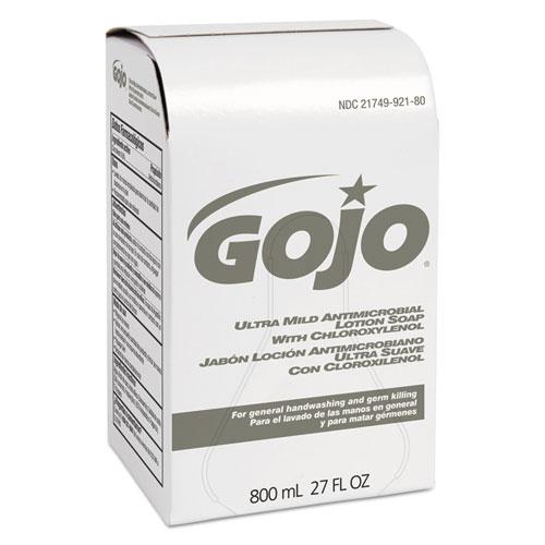 GOJO® Ultra Mild Lotion Soap w/Chloroxylenol Refill, Floral Balsam, 800mL, 12/Carton