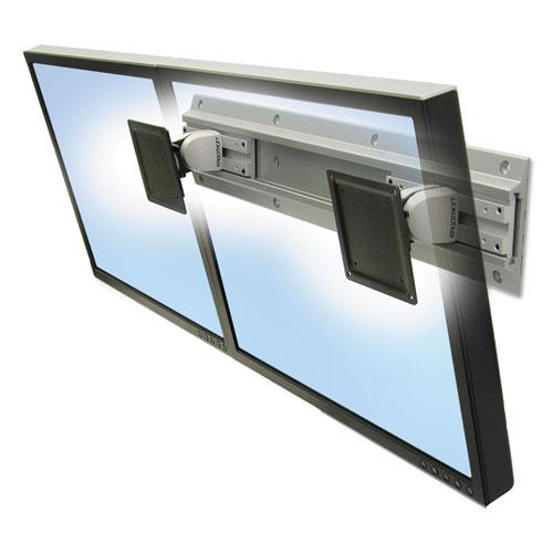Neo-Flex Dual Monitor Wall Mount, 26w x 4d x 5h, Gray/Black