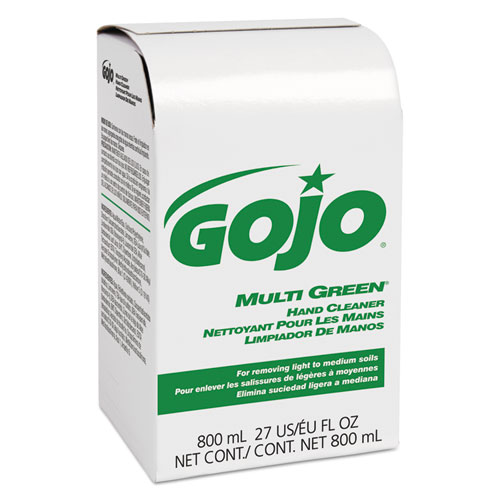 GOJO® Enriched Lotion Soap Bag-in-Box Refill, Herbal Floral, 800 mL, 12/Carton