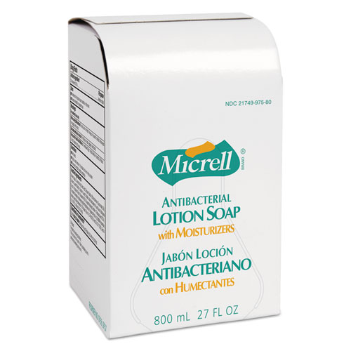 Antibacterial Lotion Soap Refill, Liquid, Light Scent, 800 mL, 12/Carton