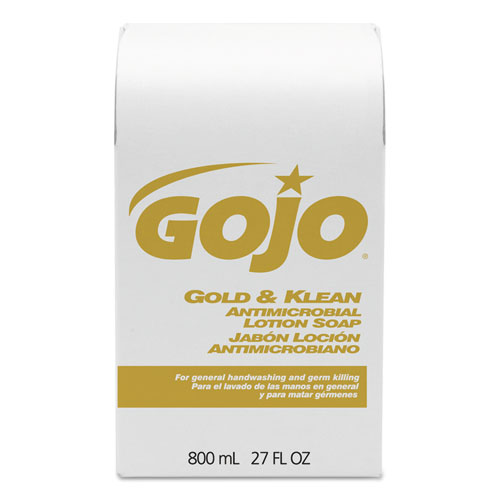 GOJO® Gold and Klean Lotion Soap Bag-in-Box Dispenser Refill, Floral Balsam, 800mL