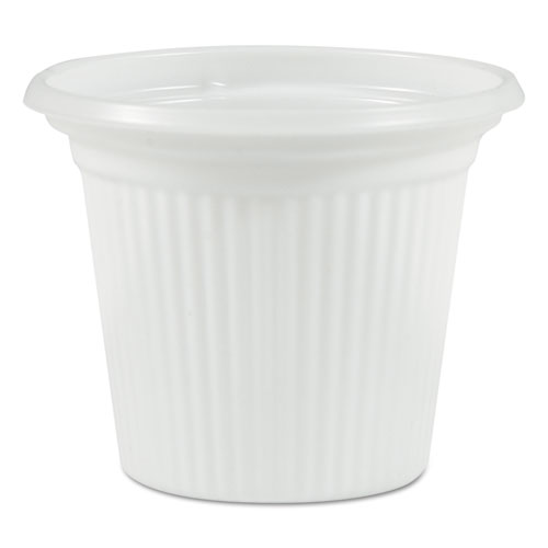 Plastic Souffle Cups, 3/4oz, Translucent, 250/Sleeve, 20 Sleeves/Carton
