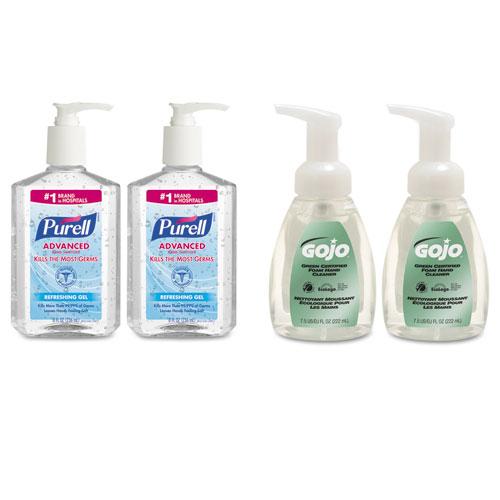 PURELL® Advanced Hand Sanitizer/Hand Soap Kit, 8 oz Sanitizer, 7.5oz Cleanser
