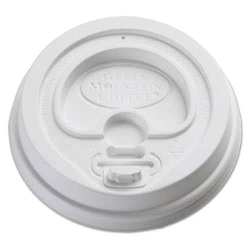 Plastic Lids for Eco-Friendly Hot Cups, Gourmet Domed, White, 1200/Carton