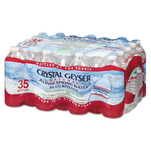 Crystal Geyser® Natural Alpine Spring Water, 16.9 oz Bottle, 35/Carton